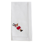 NM172 Embroidered Reindeer Napkin