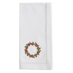 NM173 Embroidered Wreath Napkin