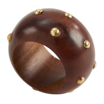NR121 studded wood napkin ring