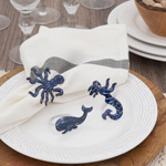 NR135 Whale Napkin Ring