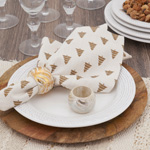 NR202 Foil Print Wood Napkin Ring