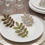 NR313 Beaded Leaf Napkin Ring