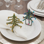 NR423 Beaded Christmas Tree Napkin Ring