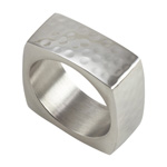 NR643 square hammered napkin ring