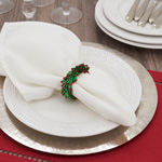 NR827 Beaded Wreath Napkin Ring