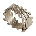 NR916 wrapped leaf napkin ring