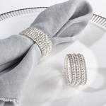 NR027 glass stone napkin ring