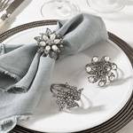 NR107 bejeweled design napkin ring