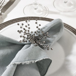 NR114 beaded napkin ring
