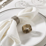 NR142 metal design napkin ring