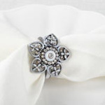 NR248 bejeweled flower napkin ring