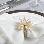 NR403 pearl flower napkin ring