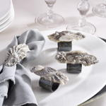 NR711 oyster shell napkin rings