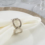NR712 hammered loop napkin ring