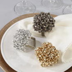 NR735 chunky beaded napkin ring