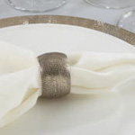 NR802 hammered napkin ring