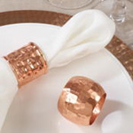 NR806 moscow mule ribbed napkin ring