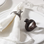 NR808 quail design napkin ring