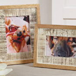 PF029 distressed wood photo frame