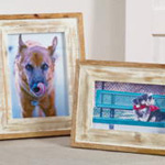 PF030 distressed wood photo frame