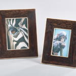 PF062 wooden and bone photo frame