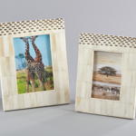 PF205 dotted bone photo frame