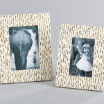 PF207 dashed bone photo frame