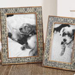 PF301 pattern bone photo frame