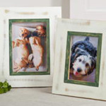 PF312 distressed wood photo frame