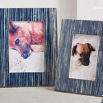 PF329 blue line bone photo frame