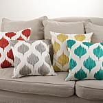 0004 stitched ink blot design pillow