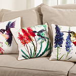 064P hummingbird pillow