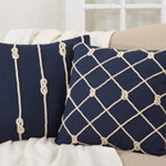 1013 knotted rope pillow