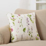 1015P watercolor floral stems pillow