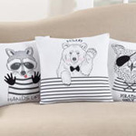 1081 pirate owl pillow