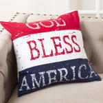 1089 god bless america pillow