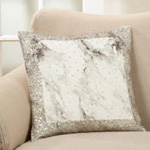1123 beaded marble print pillow