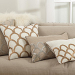 1174 arch design embroidered pillows