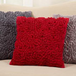 1219 felt flower pillow