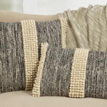 1268 pom pom stripe pillow