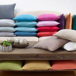 13049 fringed design linen pillow