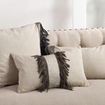 1355 cowhide suede fringe pillow