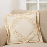 137 cotton fringe lace appliqué pillow