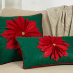 1372 Felt Poinsettia Pillow