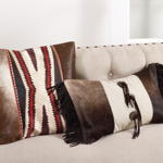 1375 cowhide suede fringe pillow