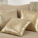 1394 Leopard Foil Print Leather Pillow