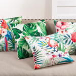 1458 printed flower pillow