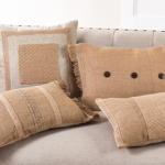 1464 button fringed pillow