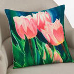 1475 printed tulip pillow
