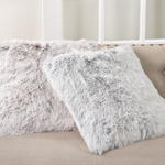 1593 two-tone faux fur pillow